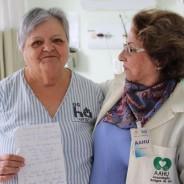Paciente dedica poema aos Voluntários
